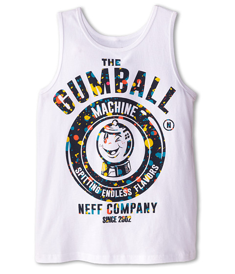 Neff Kids - Gumball Machine Tank (Big Kid) (White) Boy's Sleeveless