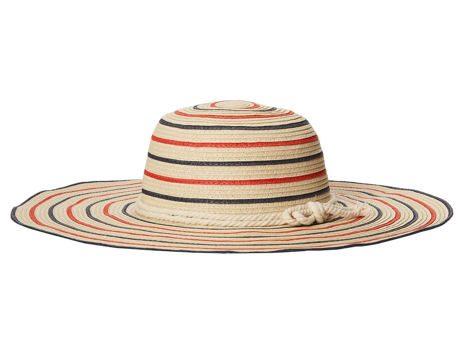LAUREN by Ralph Lauren - Striped Sailor Knot Hat (Coastal Sand) Caps