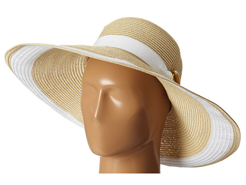 LAUREN by Ralph Lauren - Bright and Natural Sun Hat (Natural/White) Caps