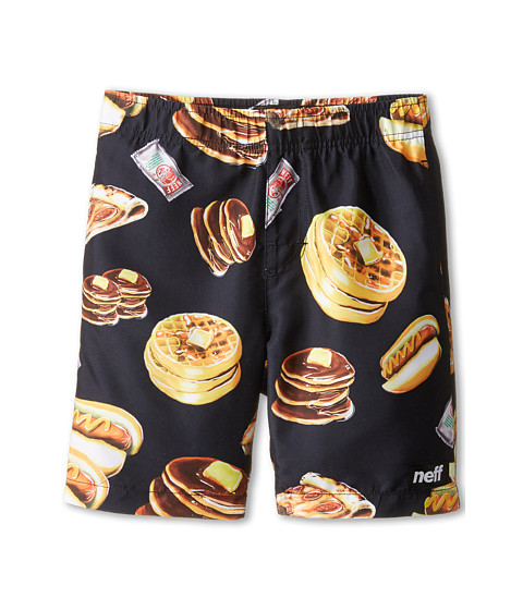 Neff Kids - Gluten Free Hot Tub Short (Black) Boy's Swimwear
