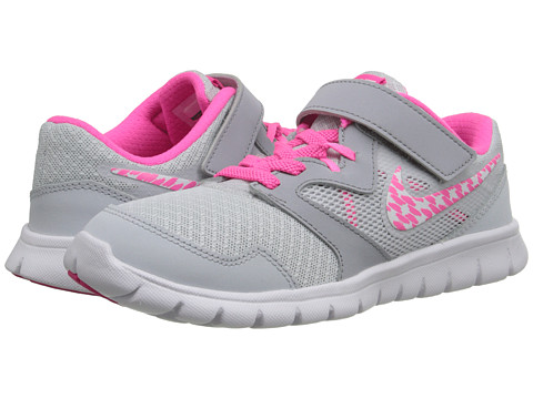 Nike Kids - Flex Experience 3 (Little Kid) (Pure Platinum/Pink Pow/Wolf Grey/White) Girls Shoes