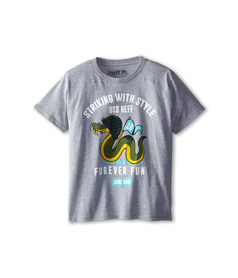 Neff Kids - Snake Strike Tee (Big Kid) (Athletic Heather) Boy's T Shirt