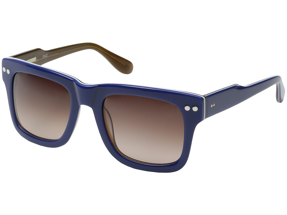 Derek Lam - Dylz (Blue Stripe) Fashion Sunglasses