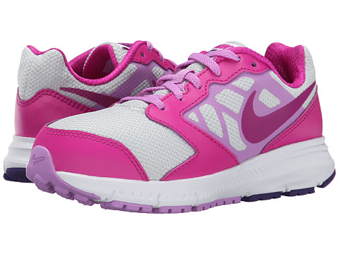 Nike Kids - Downshifter 6 (Little Kid/Big Kid) (Pure Platinum/Fuchsia Flash/Court Purple/Fuchsia Glow) Girls Shoes