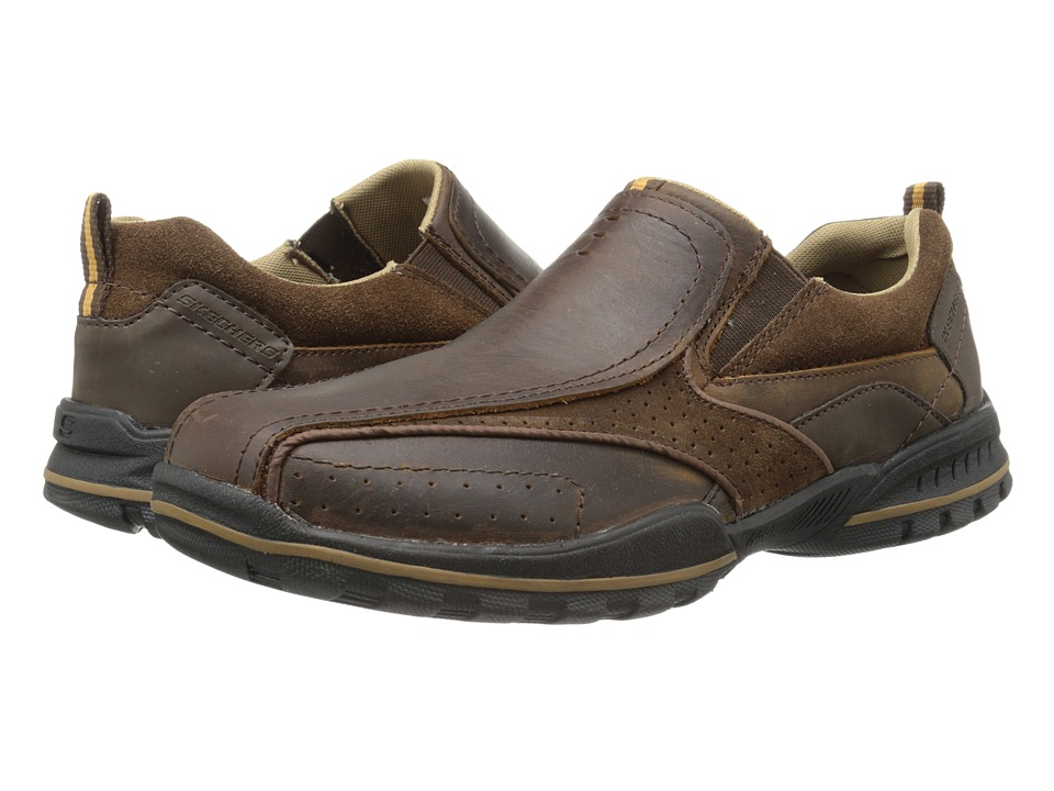 SKECHERS - Vorlez - Conven (Dark Brown) Men's Shoes
