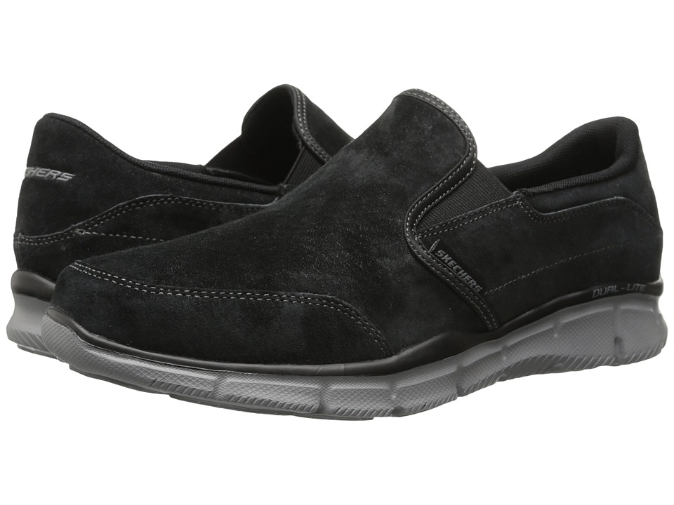 SKECHERS - Equalizer Slip-On Nubuck (Black) Men's Slip on Shoes