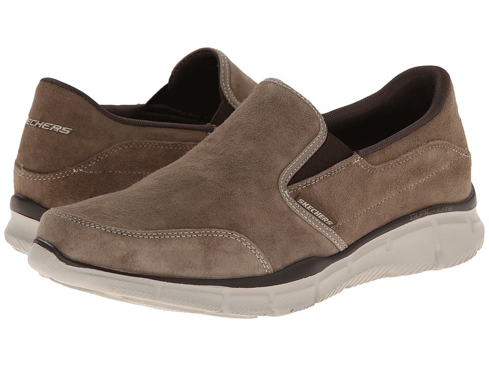 SKECHERS - Equalizer Slip-On Nubuck (Brown) Men's Slip on Shoes