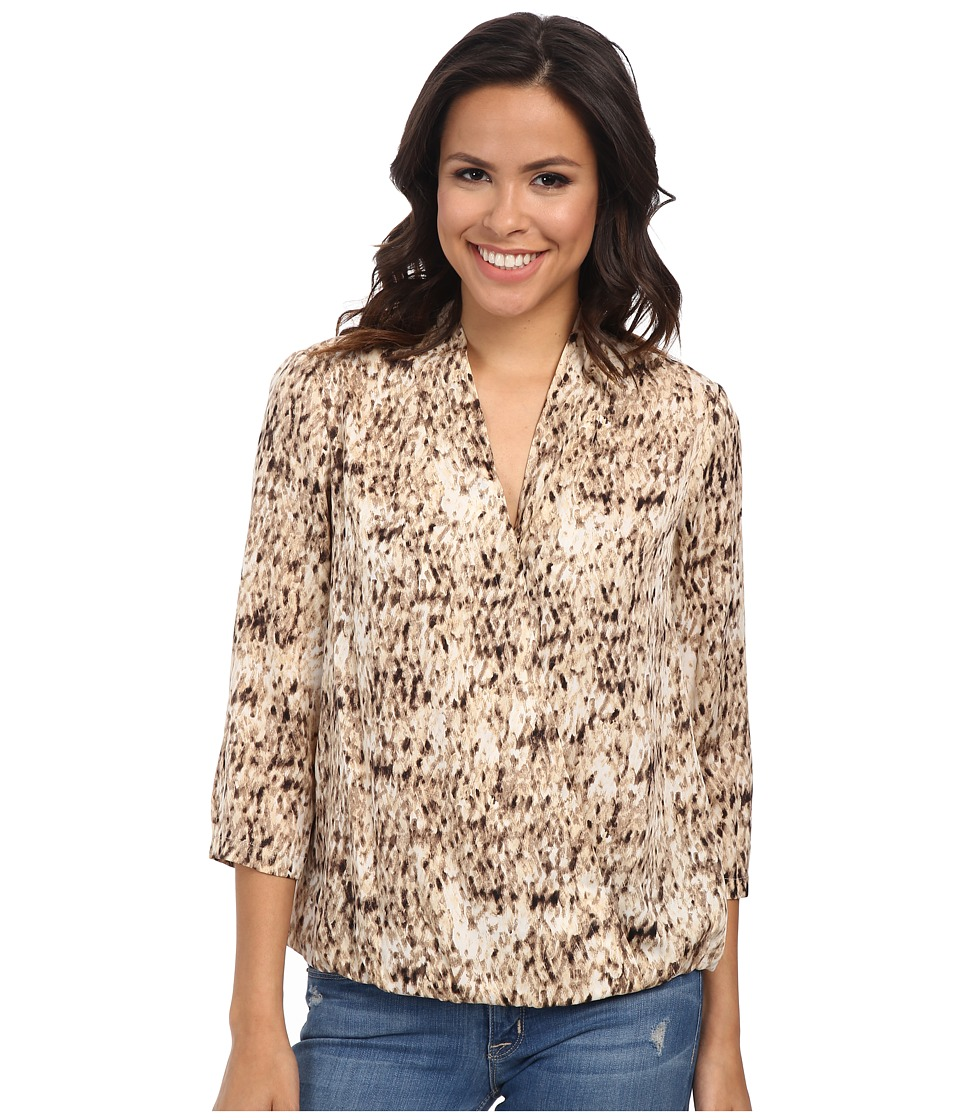 NIC+ZOE - Wild Strokes Wrap Top (Multi) Women's Long Sleeve Pullover