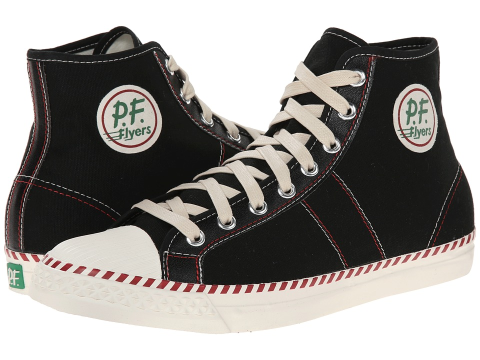 PF Flyers - Rambler (Black Canvas) Men's Lace up casual Shoes