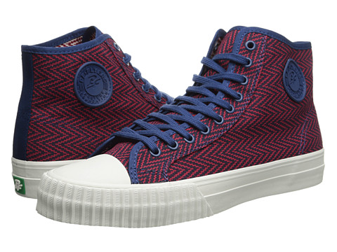 PF Flyers - Center Hi Zig Zag (Red/Blue Canvas) Men's Lace up casual Shoes