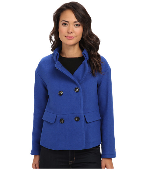 French Connection - Cool Coating Coat (Electric Blue) Women