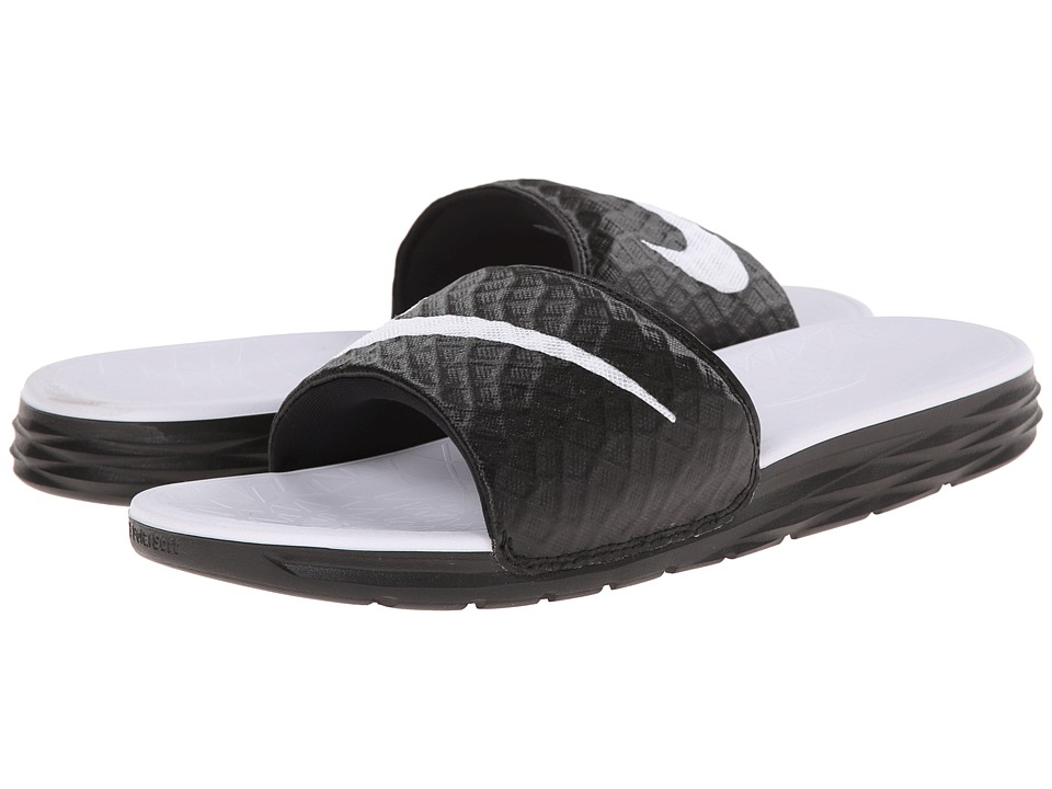 Nike - Benassi Solarsoft Slide 2 (Black/White) Women's Slide Shoes