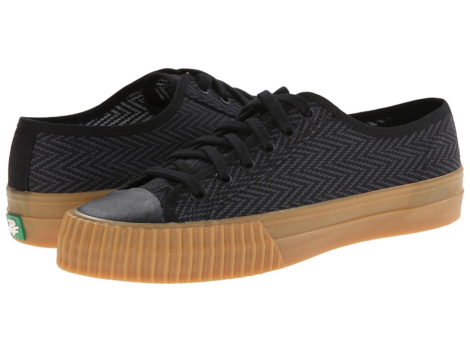 PF Flyers - Center Lo Zig Zag (Black Canvas) Men's Lace up casual Shoes