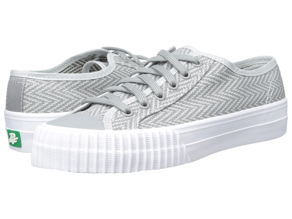 PF Flyers - Center Lo Zig Zag (Grey Canvas) Men