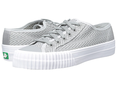 PF Flyers - Center Lo Zig Zag (Grey Canvas) Men's Lace up casual Shoes
