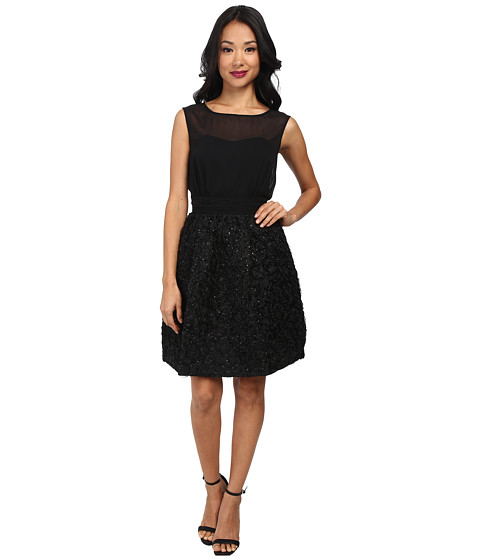 French Connection - Rochelle Ribbon Dress (Black) Women's Dress