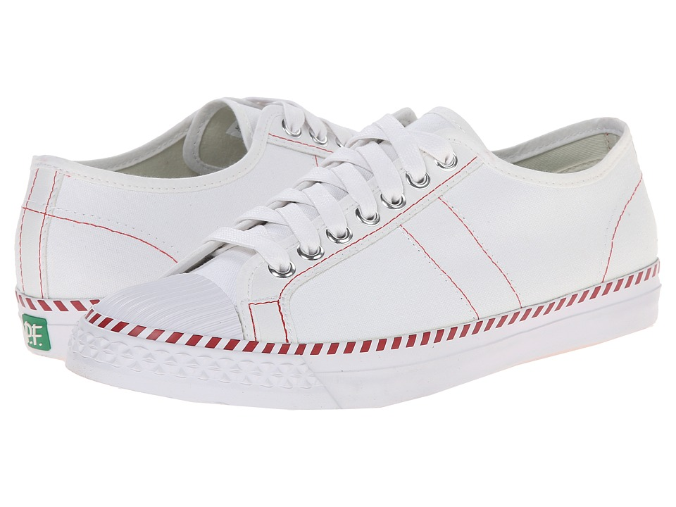 PF Flyers - Rambler Lo (White Canvas) Men's Lace up casual Shoes