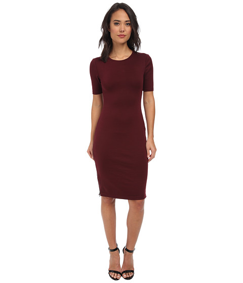 Brigitte Bailey - S/S Midi Dress (Port) Women's Dress