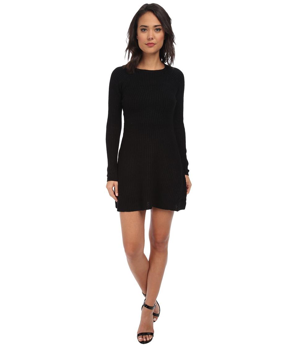 Brigitte Bailey - L/S Sweater Dress (Black) Women