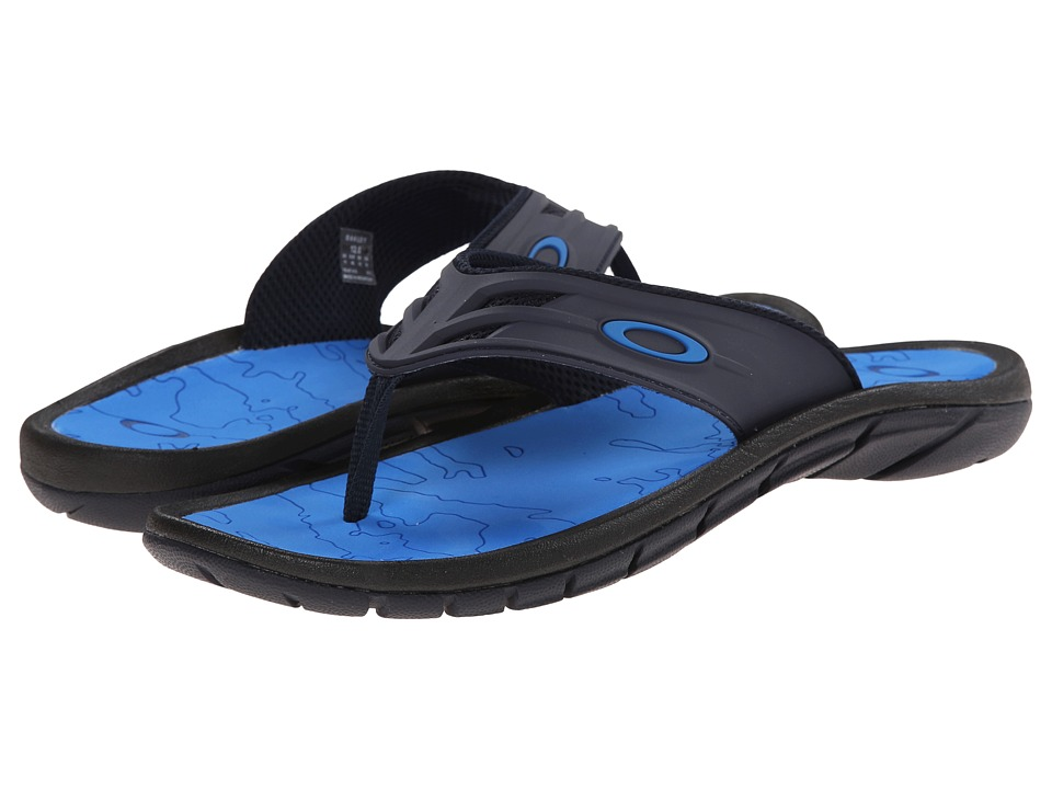 Oakley - Supercoil '15 (Black/Blue) Men's Slide Shoes