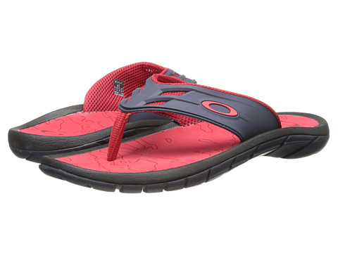 Oakley - Supercoil '15 (Grey/Red) Men's Slide Shoes
