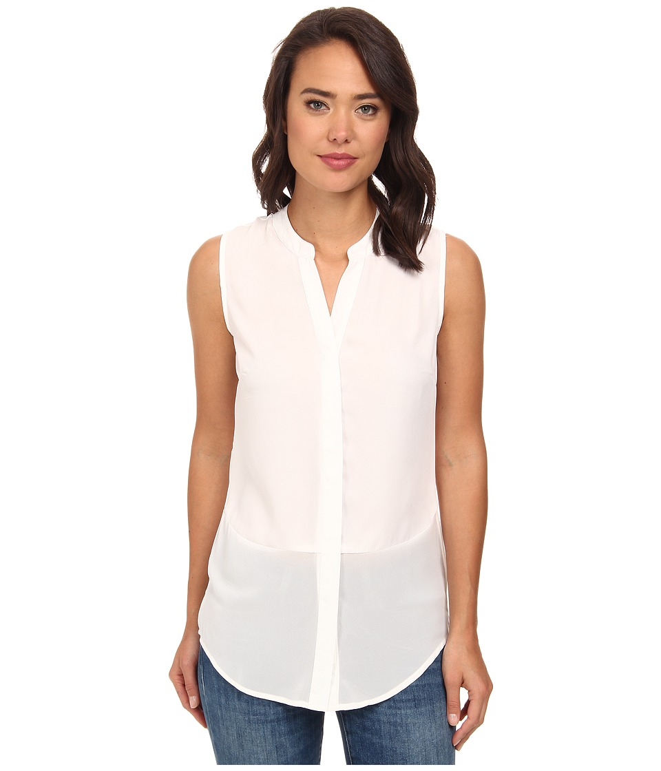 Brigitte Bailey - Sleeveless Button-Down Blouse (White) Women's Blouse