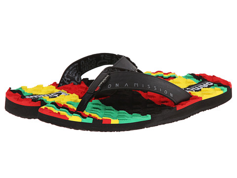 Cobian - OAM Traction Pad (Reggae) Men's Sandals