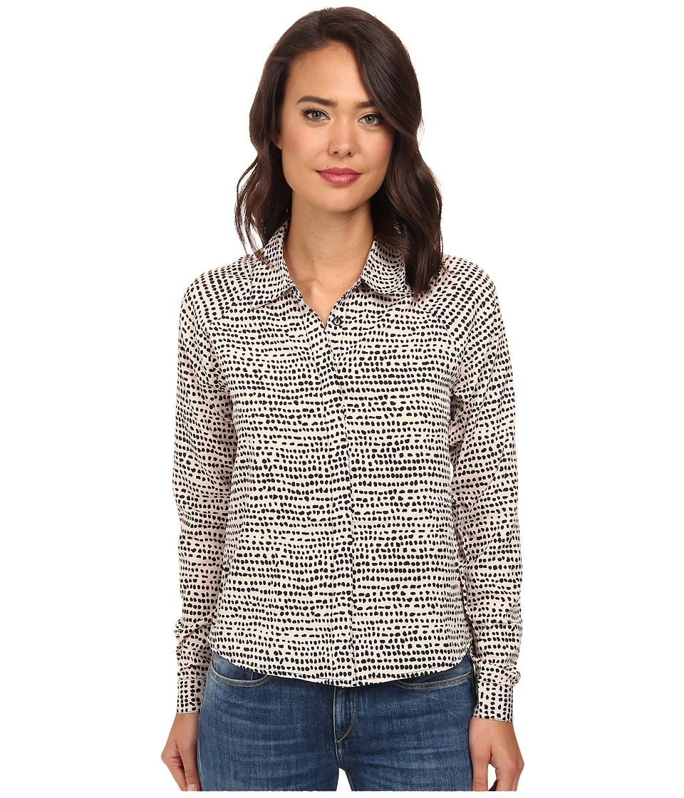 Gabriella Rocha - Printed Collared Button Down Blouse (Little Dot) Women's Blouse plus size,  plus size fashion plus size appare