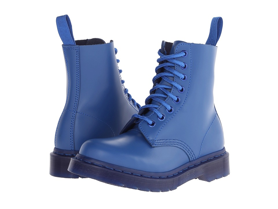 Dr. Martens - Pascal 8-Eye Boot (Blue Smooth) Lace-up Boots