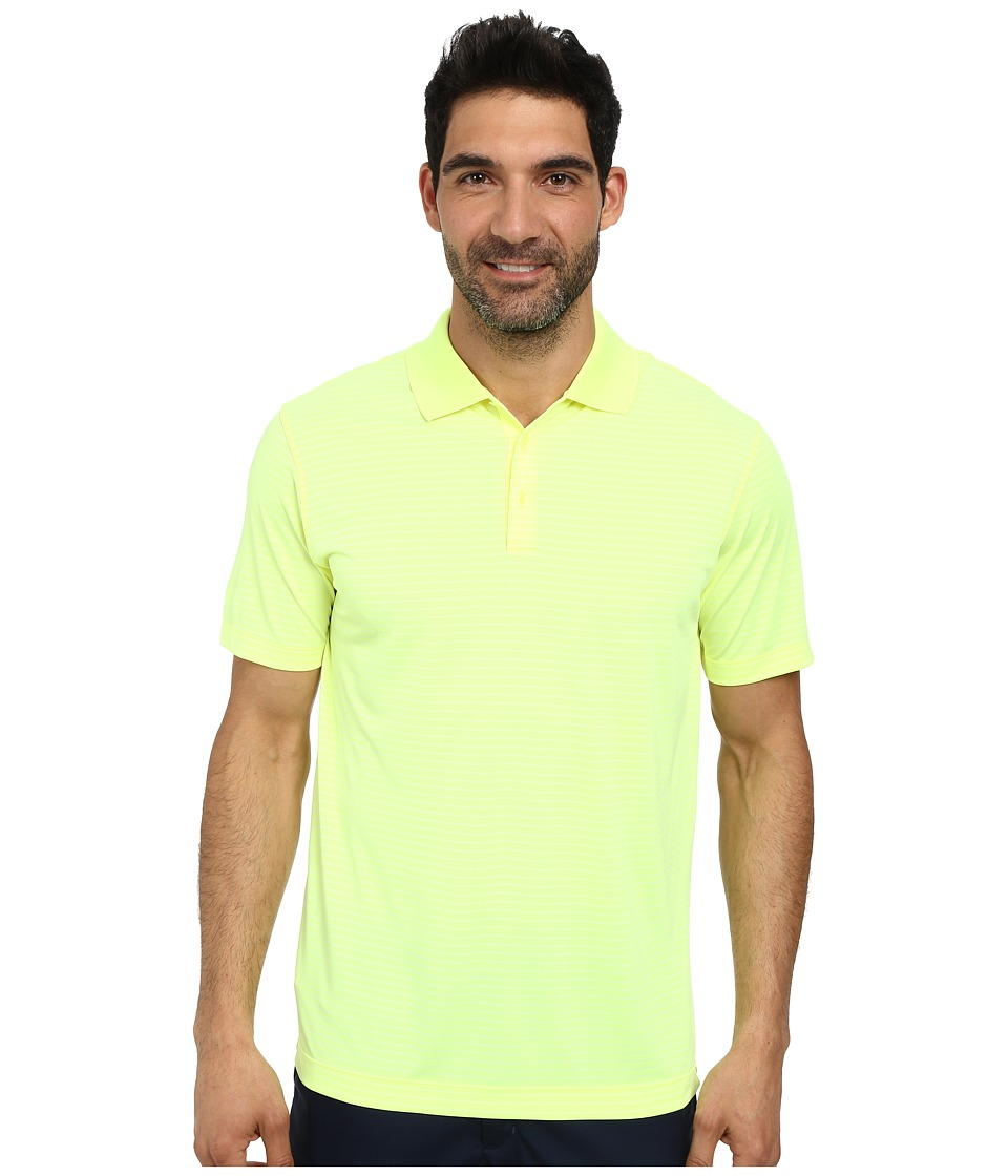 Nike Golf - Nike Victory Stripe Polo (Volt/Black) Men's Short Sleeve Pullover