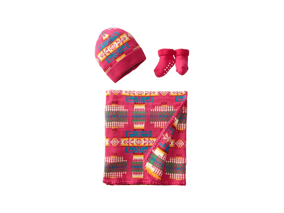 Pendleton - Jacquard Knit Layette Set (Cherry) Blankets