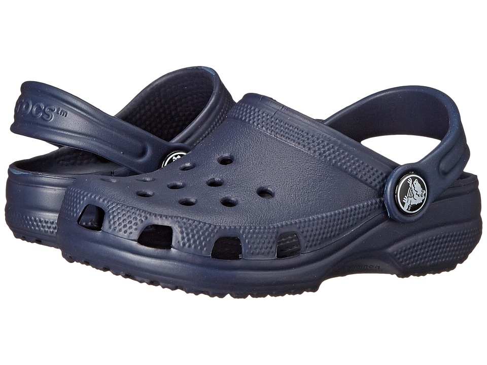 Crocs Kids - Classic (Infant/Toddler/Youth) (Navy) Kids Shoes