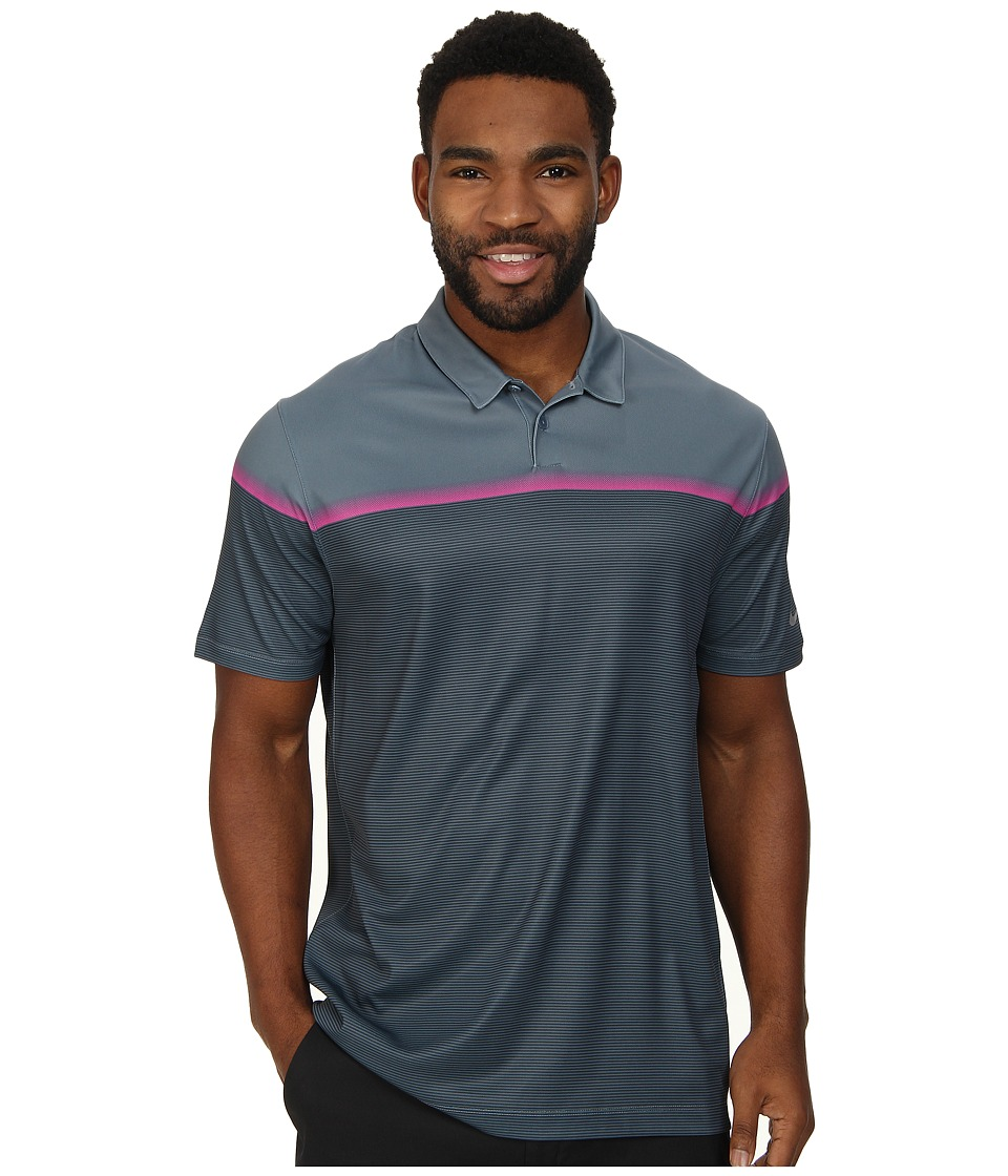 Nike Golf - Major Moment Lift Polo (Blue Graphite/Pink Pow/Classic Charcoal/Wolf Grey) Men's Short Sleeve Knit