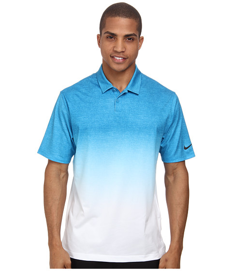 Nike Golf - Afterburner Polo (Light Blue Lacquer/Blue Force/Anthracite) Men