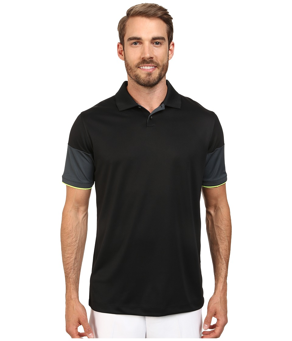 Nike Golf - Major Moment Commander Polo (Black/Classic Charcoal/Volt/Wolf Grey) Men's Short Sleeve Knit