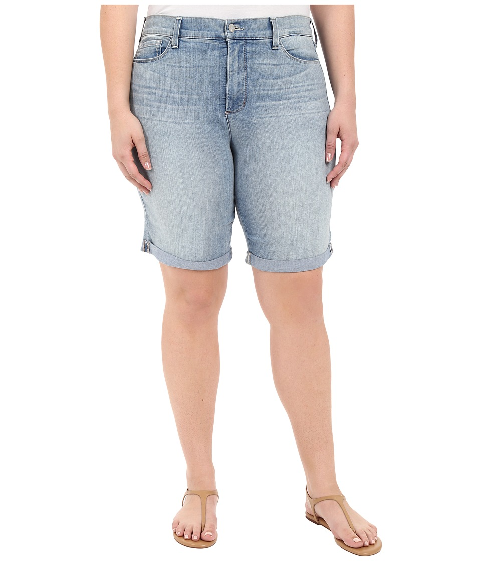 NYDJ Plus Size - Plus Size Briella Roll Cuff Short (Manhattan) Women's Shorts