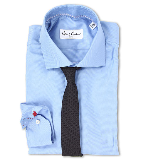 Robert Graham - Lambert Dress Shirt (Sky Blue) Men's Long Sleeve Button Up