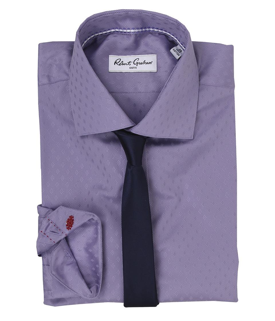 Robert Graham - Normandy Dress Shirt (Purple) Men's Long Sleeve Button Up