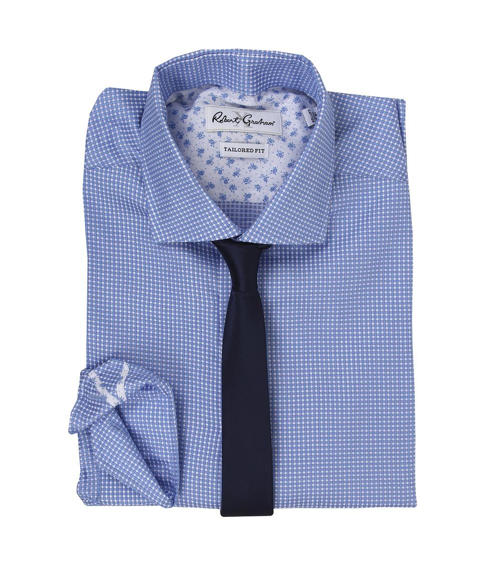 Robert Graham - X Tailored Fit Brescia Dress Shirt (Sky) Men