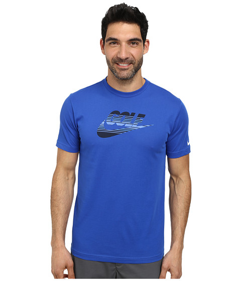 Nike Golf - Dri-Fit Amplify Tee (Game Royal/White) Men's T Shirt