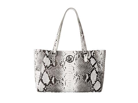 Armani Jeans - Snakeprint Tote Bag (Pearl) Tote Handbags
