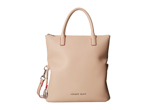 Armani Jeans - Foldover Tote Bag (Sandy Brown) Tote Handbags