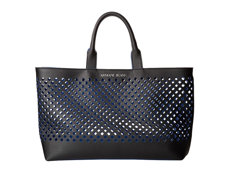 Armani Jeans - Perforated Tote Bag (Black) Tote Handbags