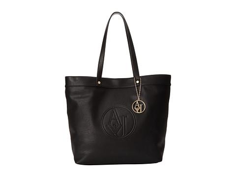 Armani Jeans - Charm Logo Tote Bag (Black) Tote Handbags