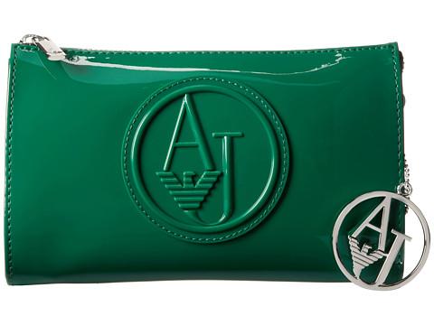Armani Jeans - Patent Crossbody (Patina) Wristlet Handbags