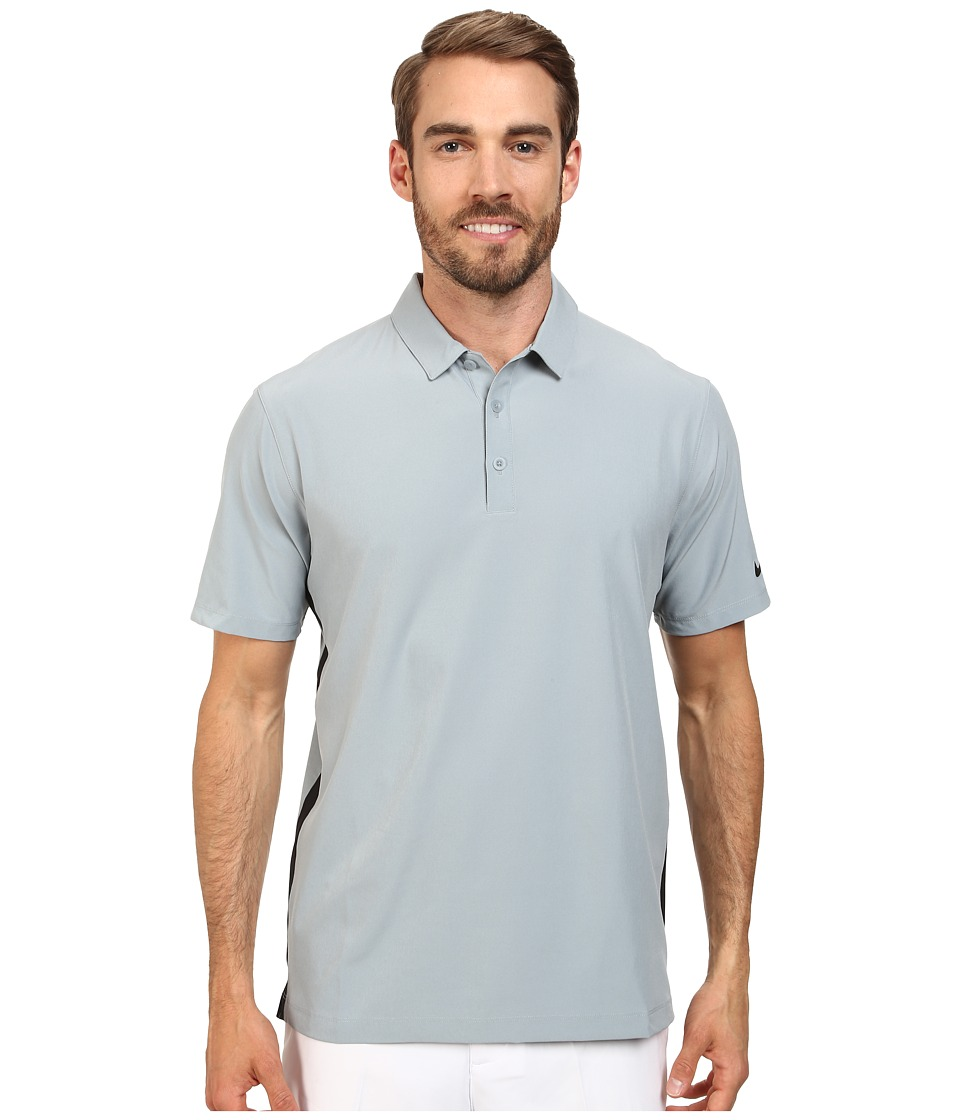 Nike Golf - Lightweight Woven Polo (Dove Grey/Black/Anthracite) Men's Short Sleeve Knit