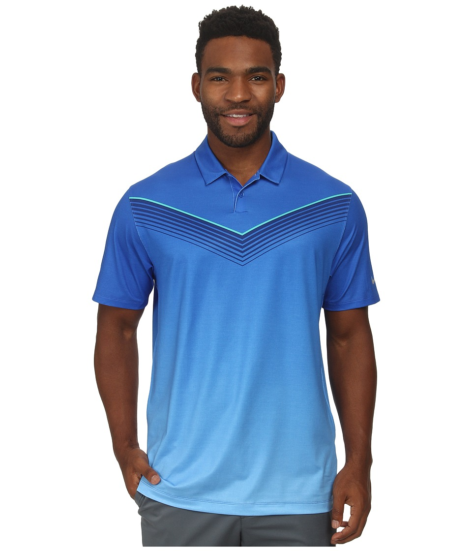 Nike Golf - Major Moment Slow Roll Polo (Lyon Blue/Wolf Grey) Men's Short Sleeve Knit