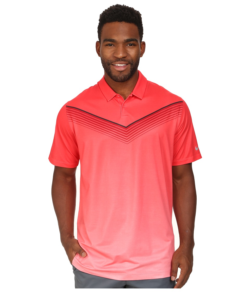 Nike Golf - Major Moment Slow Roll Polo (Daring Red/Wolf Grey) Men's Short Sleeve Knit