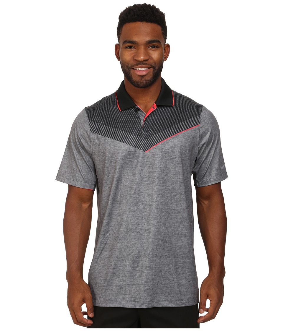 Nike Golf - Major Moment Launch Polo (Black/Daring Red/Wolf Grey) Men's Short Sleeve Knit