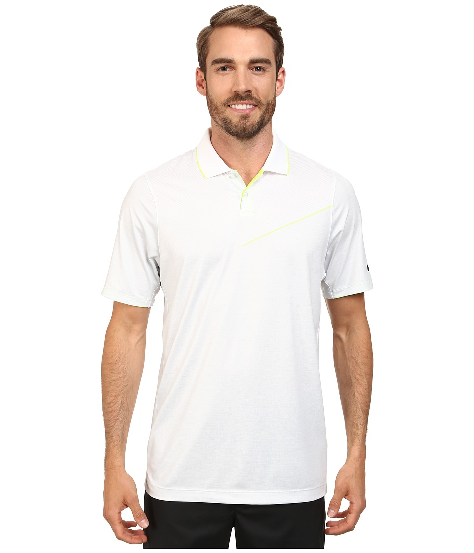 Nike Golf - Major Moment Launch Polo (White/Volt/Anthracite) Men's Short Sleeve Knit